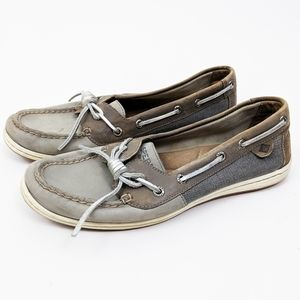 Sperry Angelfish Boat Shoes Loafers Leather Gra 9